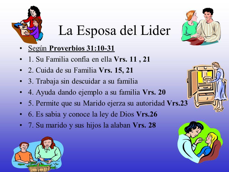 La Esposa del Lider Según Proverbios 31:10-31