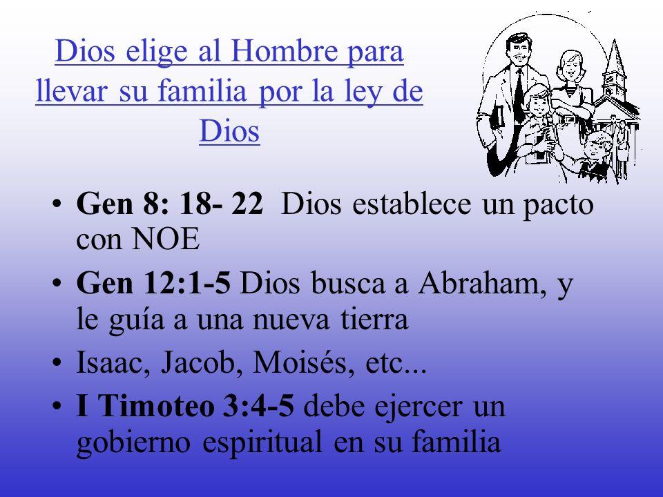 Dios elige al Hombre para llevar su familia por la ley de Dios
