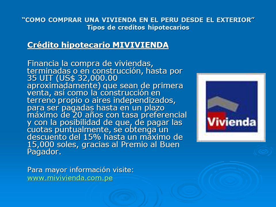 Crédito hipotecario MIVIVIENDA