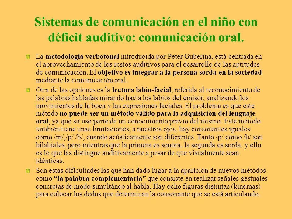 Sistemas de comunicación en el niño con déficit auditivo: comunicación oral.