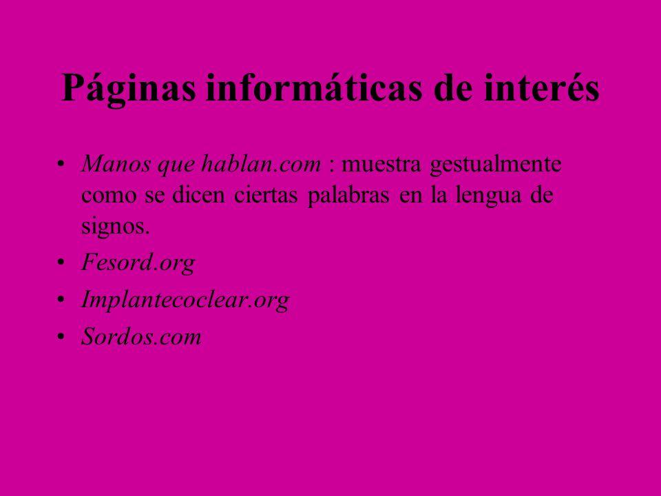 Páginas informáticas de interés