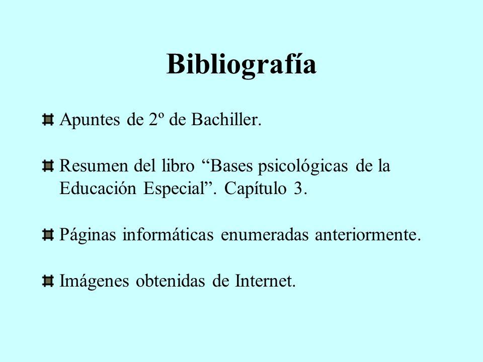 Bibliografía Apuntes de 2º de Bachiller.