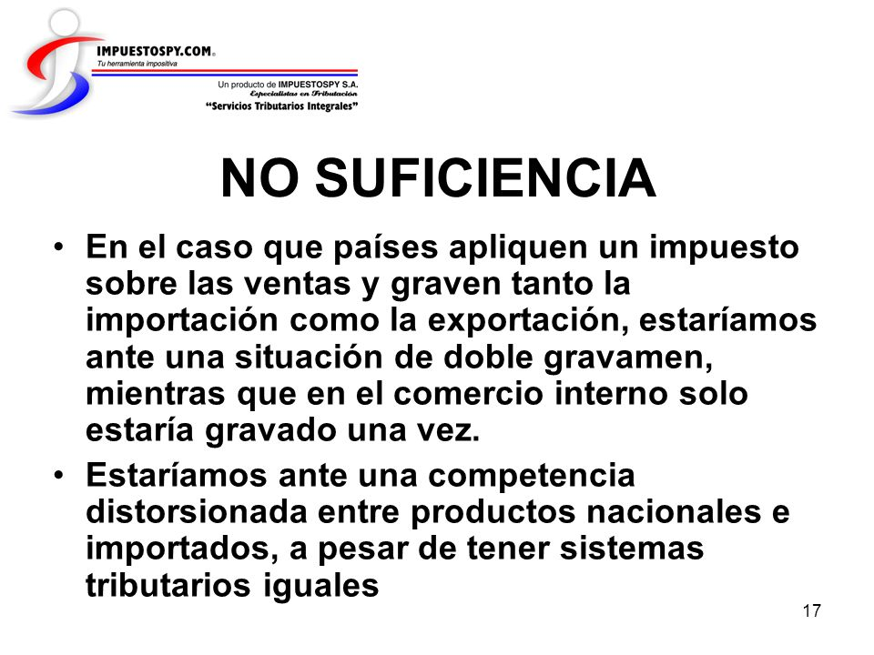 NO SUFICIENCIA