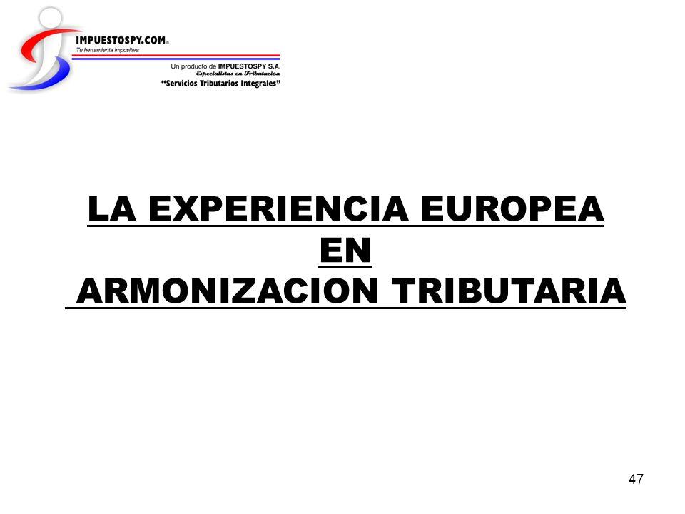 LA EXPERIENCIA EUROPEA EN