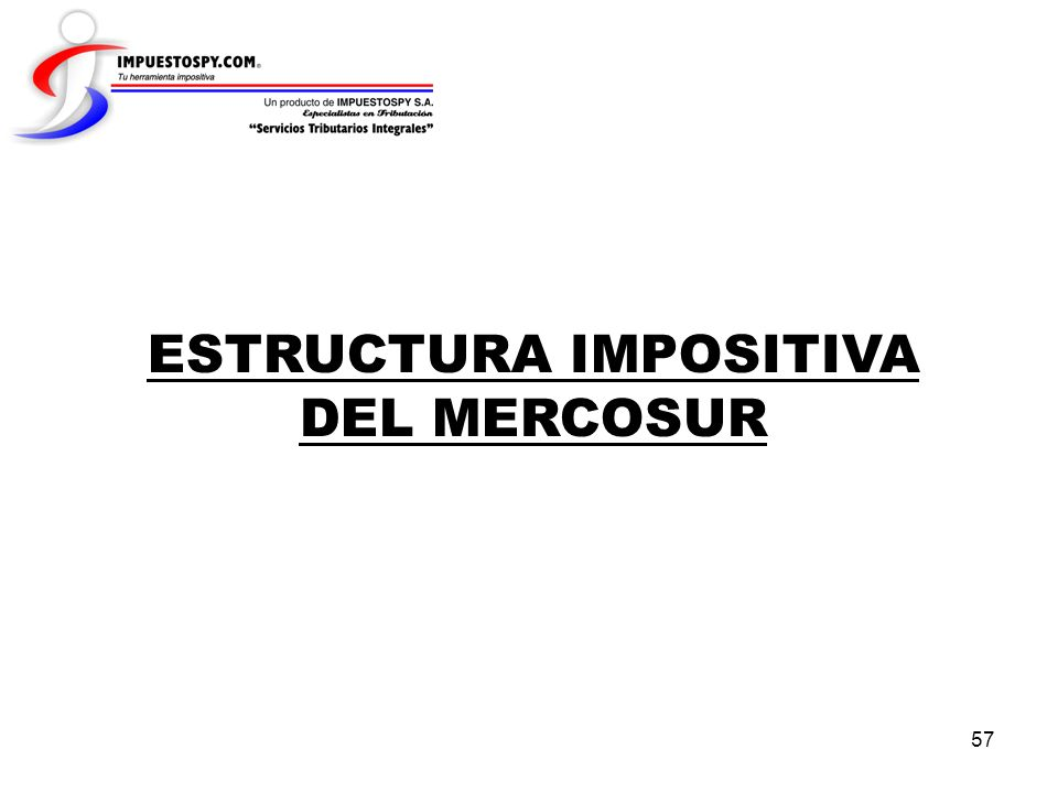 ESTRUCTURA IMPOSITIVA DEL MERCOSUR