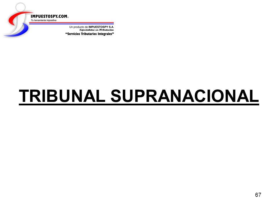 TRIBUNAL SUPRANACIONAL