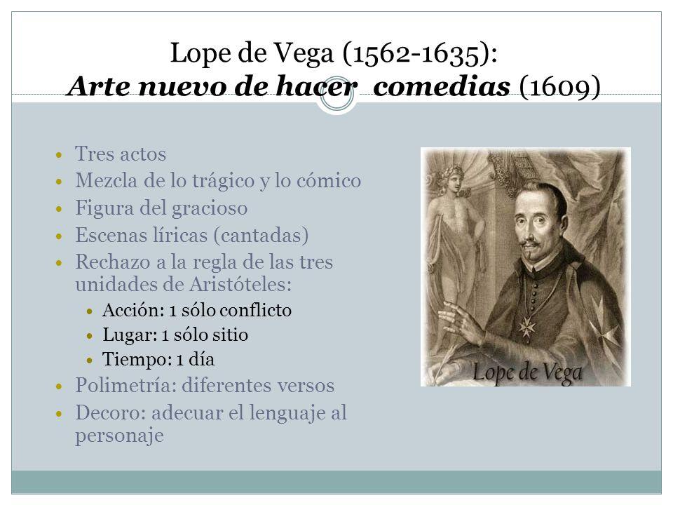 Lope de Vega (1562-1635): Arte nuevo de hacer comedias (1609)