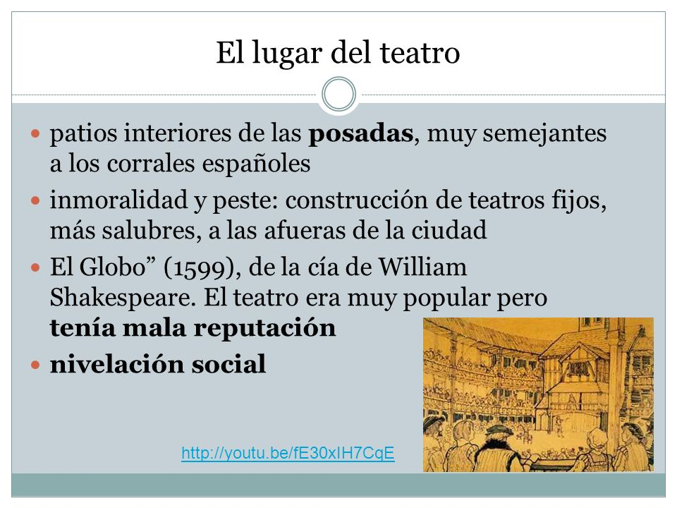 El lugar del teatropatios interiores de las posadas, muy semejantes a los corrales españoles.