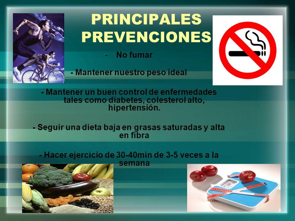 PRINCIPALES PREVENCIONES