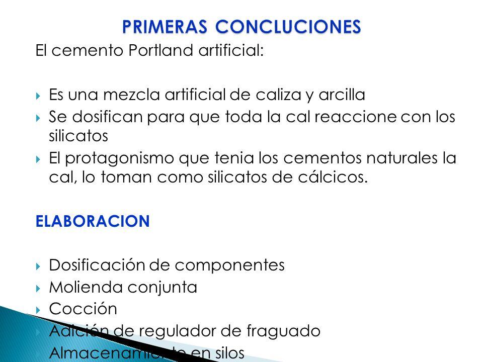 PRIMERAS CONCLUCIONES