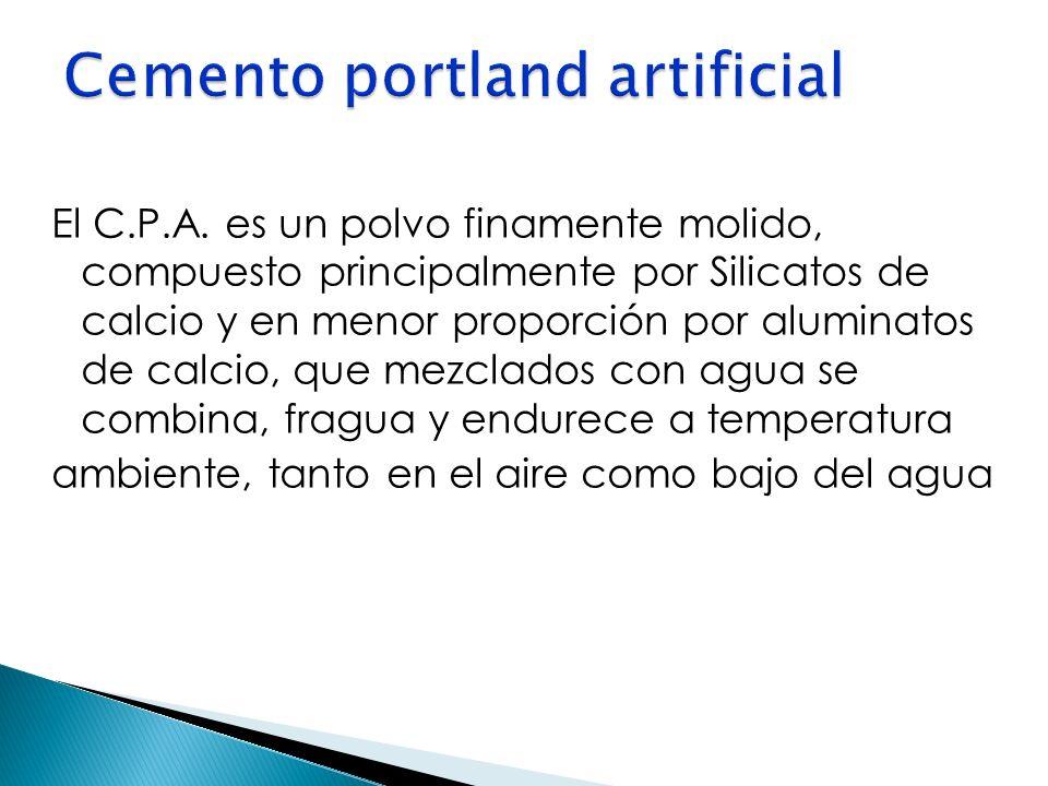 Cemento portland artificial