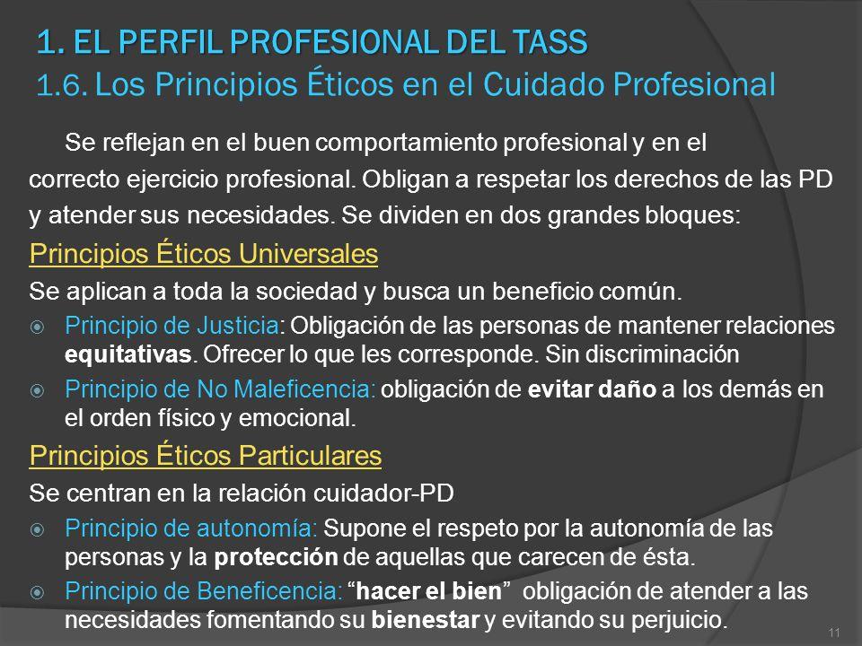 1. EL PERFIL PROFESIONAL DEL TASS 1. 6