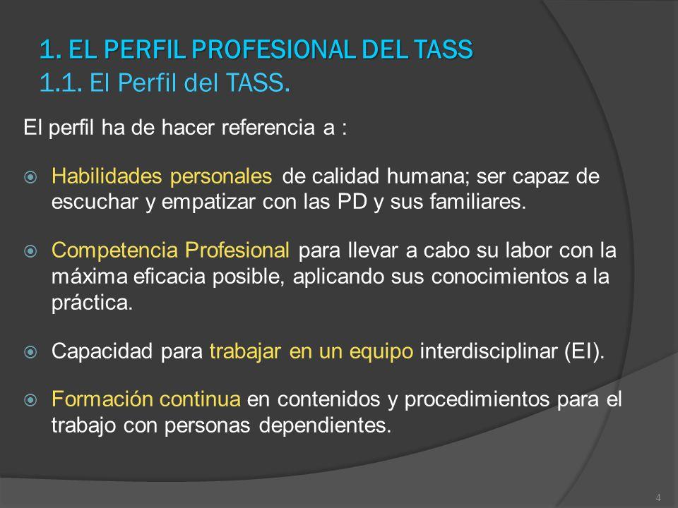 1. EL PERFIL PROFESIONAL DEL TASS 1.1. El Perfil del TASS.