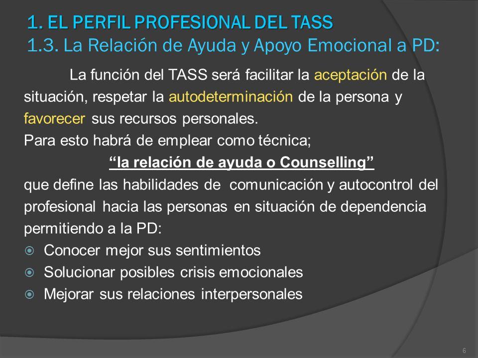 la relación de ayuda o Counselling