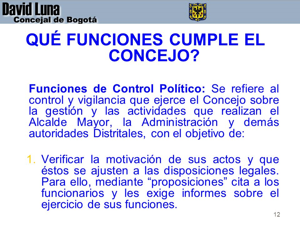 QUÉ FUNCIONES CUMPLE EL CONCEJO