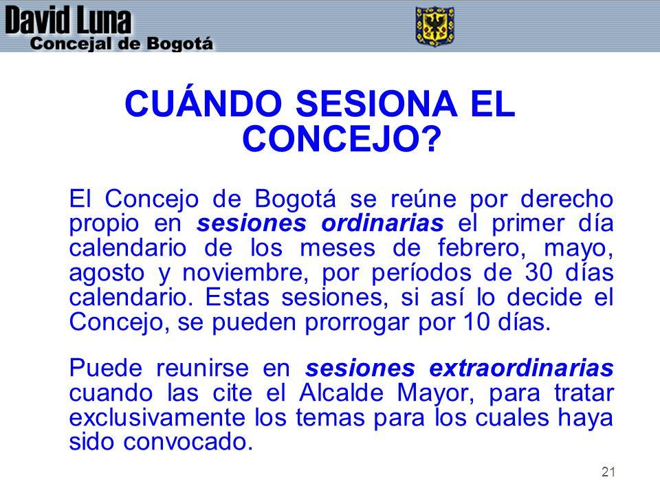 CUÁNDO SESIONA EL CONCEJO