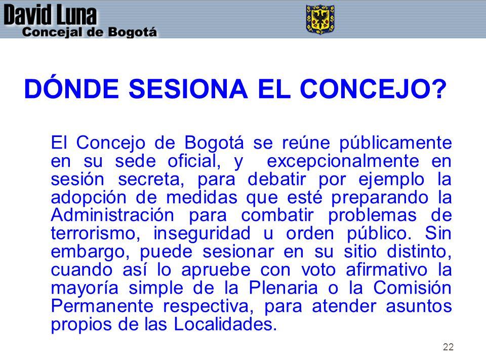 DÓNDE SESIONA EL CONCEJO