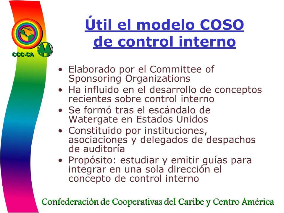 Útil el modelo COSO de control interno