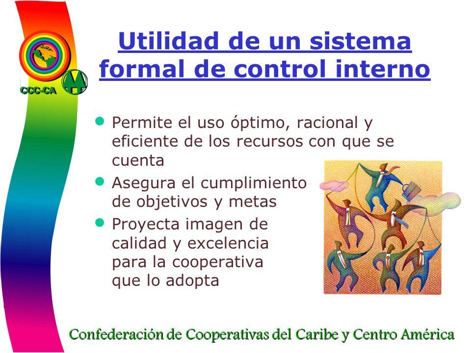 Utilidad de un sistema formal de control interno