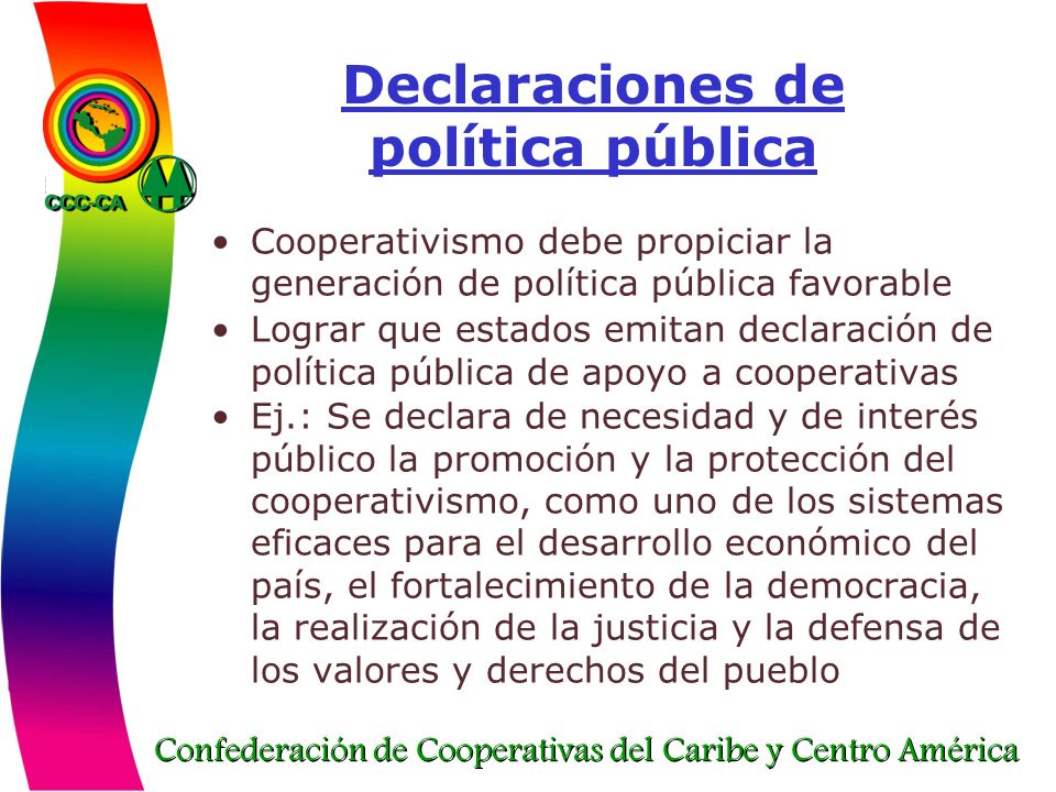 Declaraciones de política pública