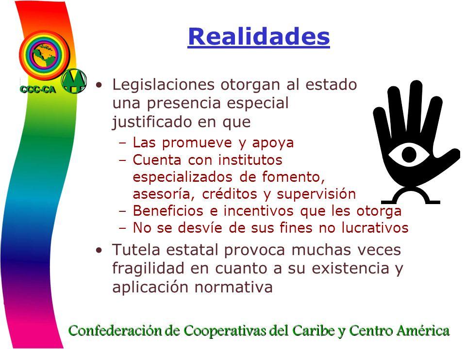 Realidades Legislaciones otorgan al estado una presencia especial
