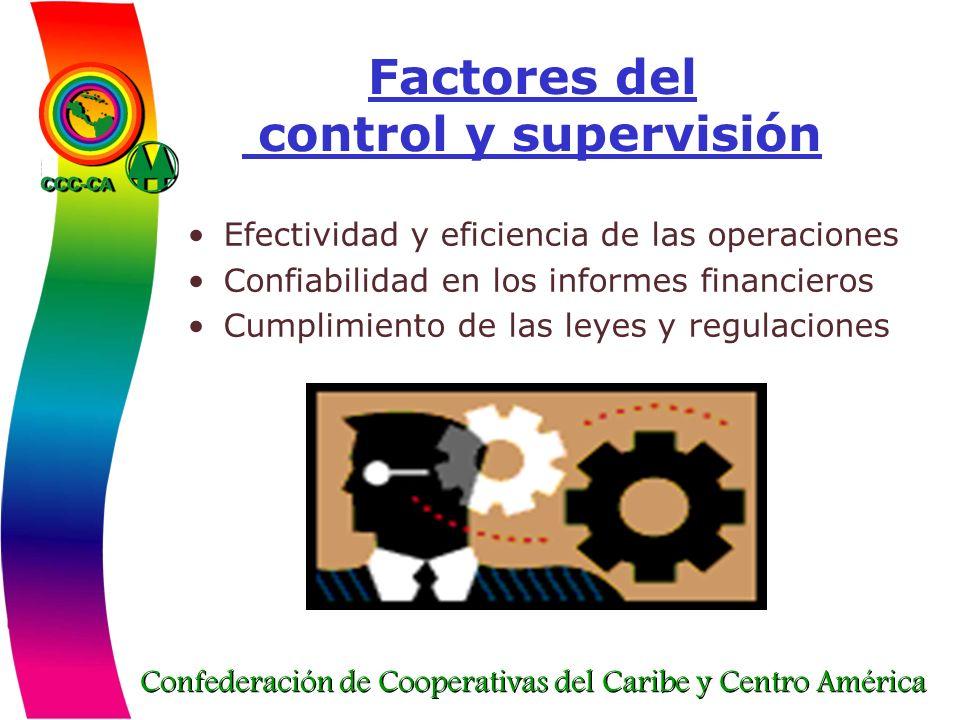 Factores del control y supervisión
