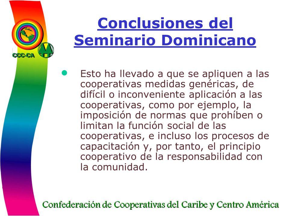 Conclusiones del Seminario Dominicano