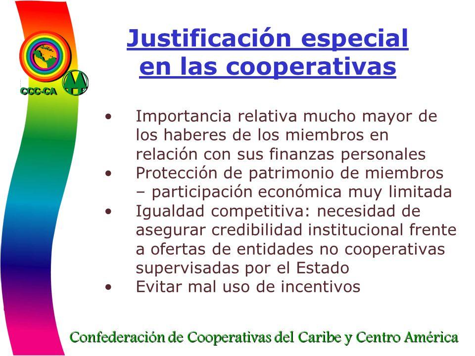 Justificación especial en las cooperativas