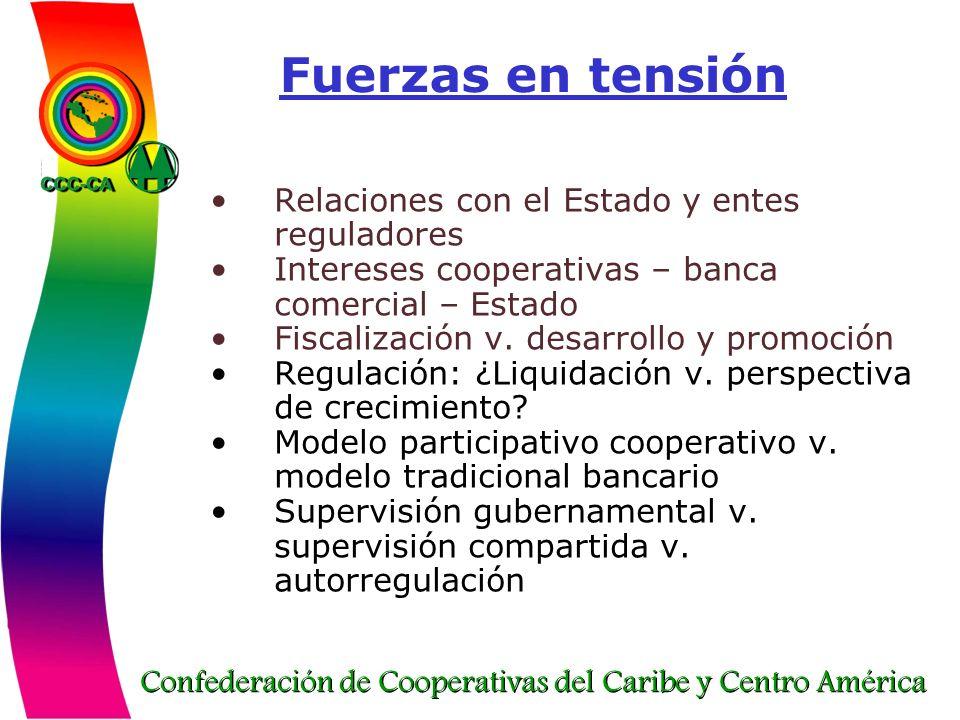 Fuerzas en tensión Relaciones con el Estado y entes reguladores