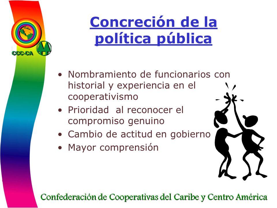 Concreción de la política pública