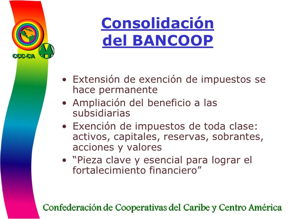 Consolidación del BANCOOP