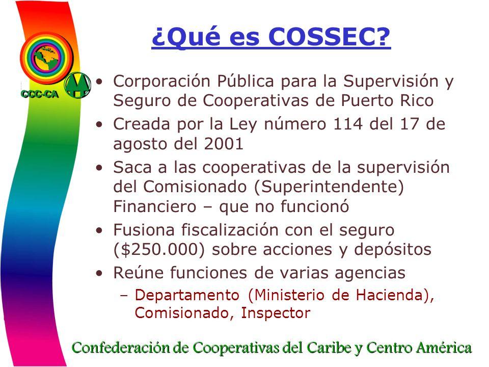 ¿Qué es COSSEC Corporación Pública para la Supervisión y Seguro de Cooperativas de Puerto Rico.