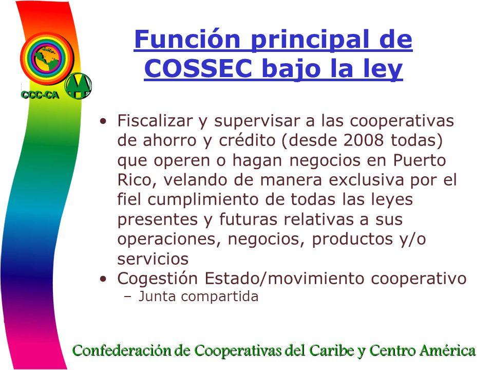 Función principal de COSSEC bajo la ley
