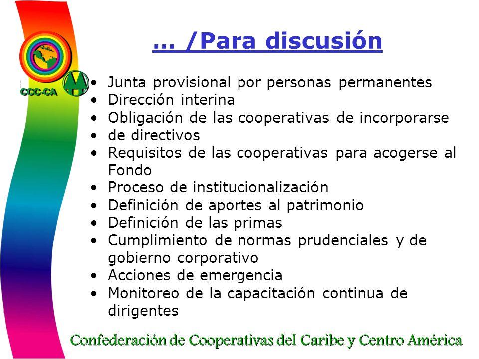 … /Para discusión Junta provisional por personas permanentes