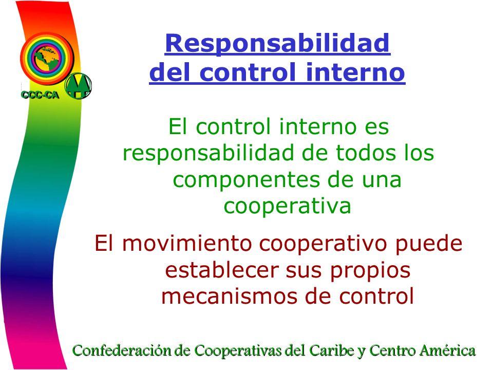 Responsabilidad del control interno