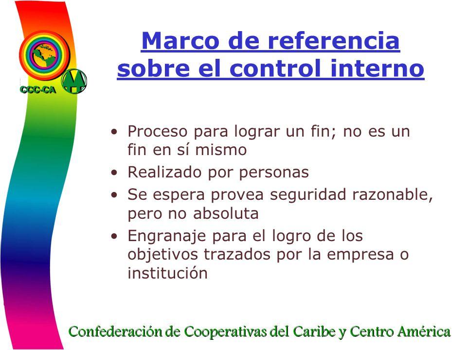 Marco de referencia sobre el control interno
