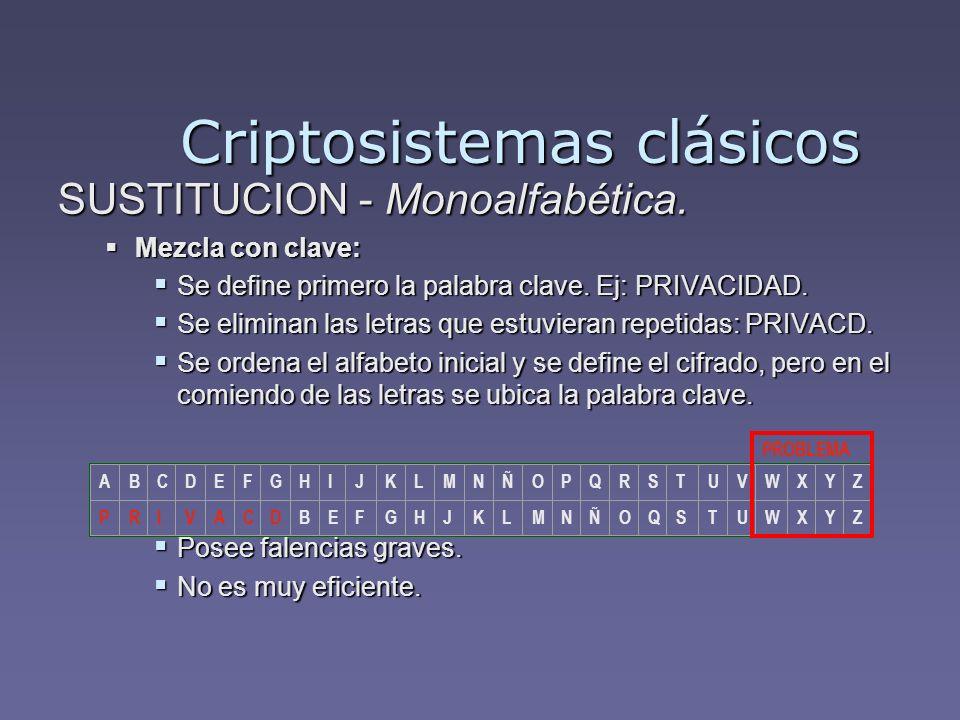 Criptosistemas clásicos