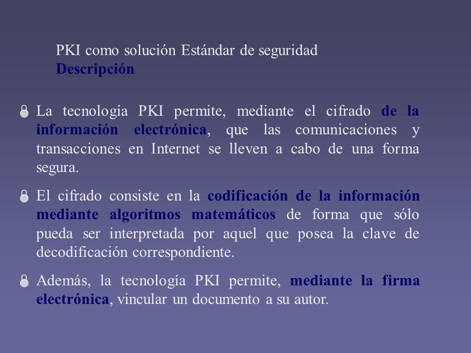 PKI como solución Estándar de seguridad