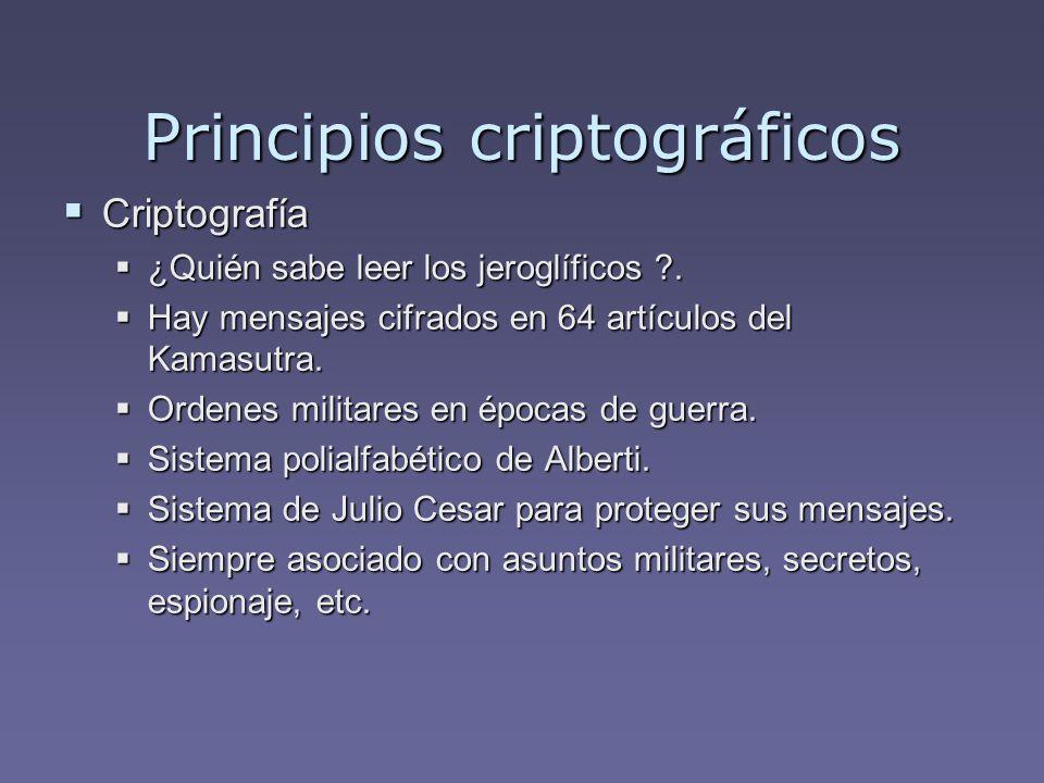 Principios criptográficos