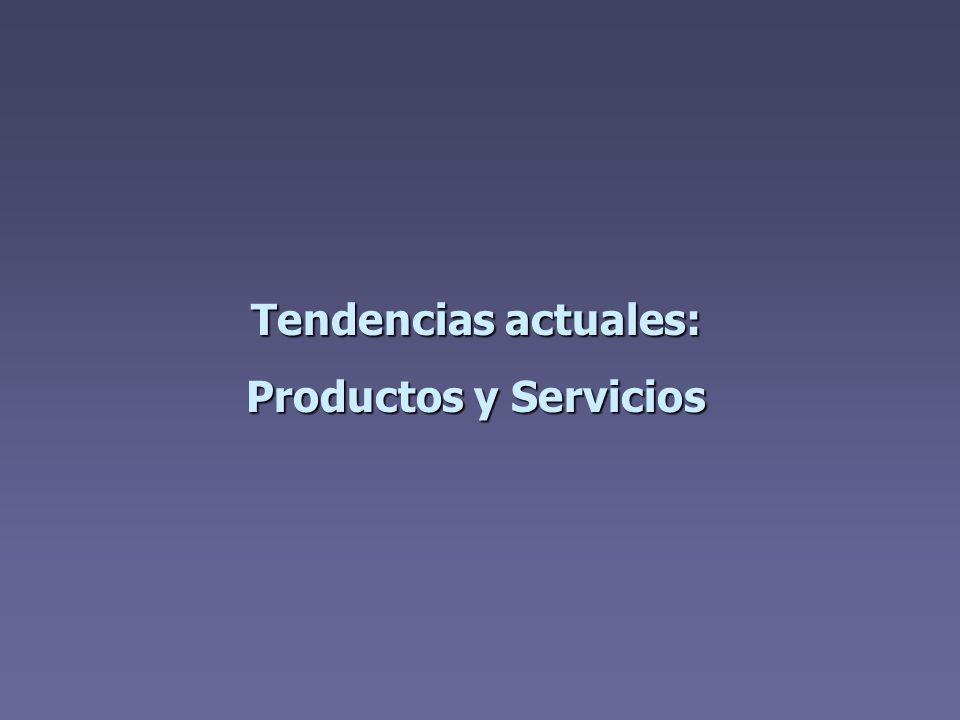 Tendencias actuales: Productos y Servicios