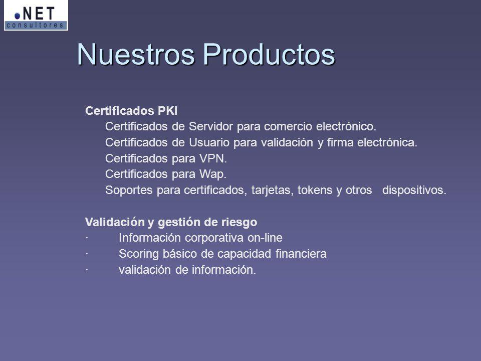 Nuestros Productos Certificados PKI