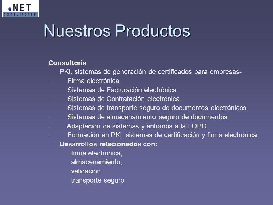 Nuestros Productos Consultoría