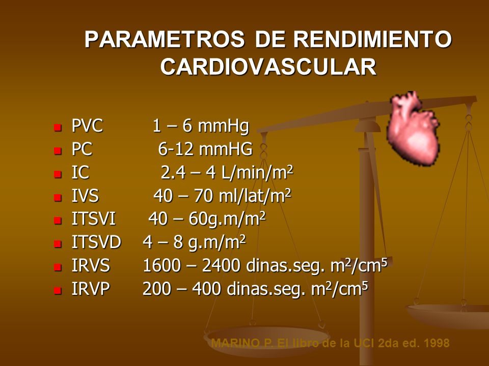 PARAMETROS DE RENDIMIENTO CARDIOVASCULAR