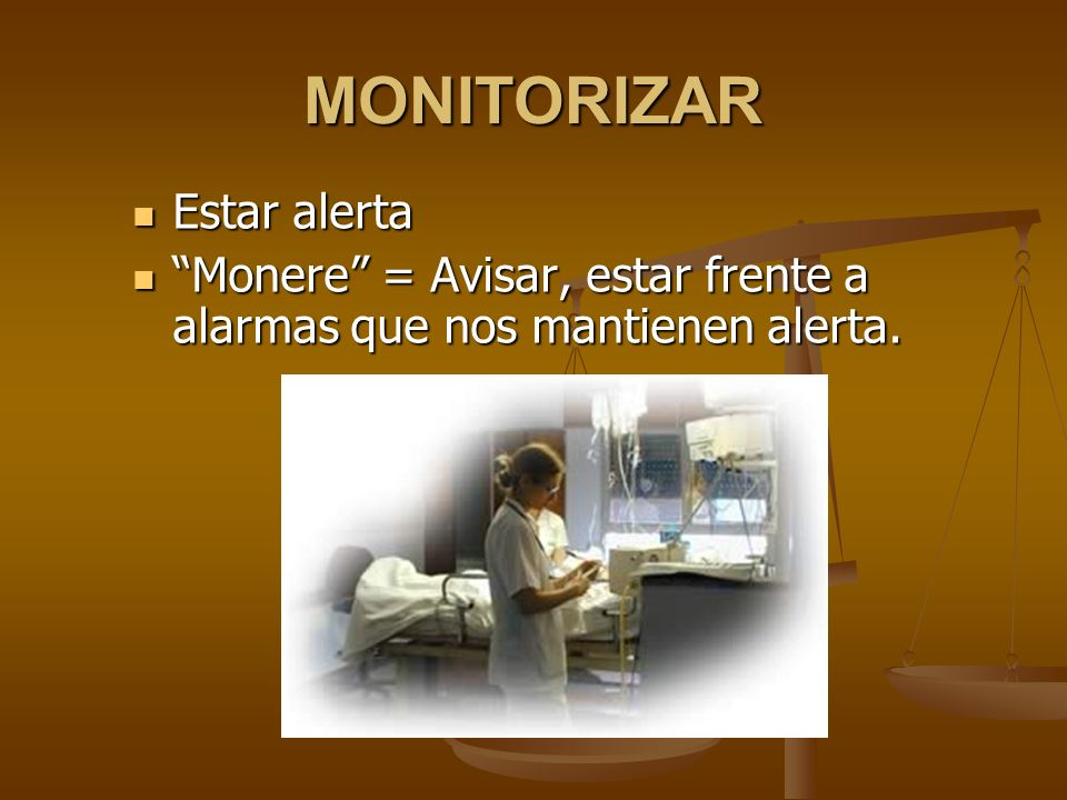 MONITORIZAR Estar alerta