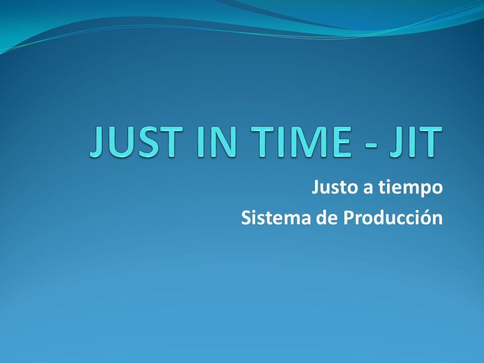 Justo a tiempo Sistema de Producción