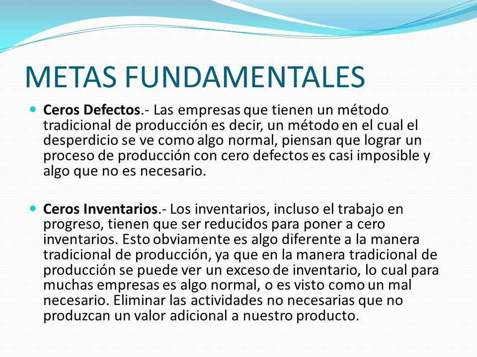 METAS FUNDAMENTALES