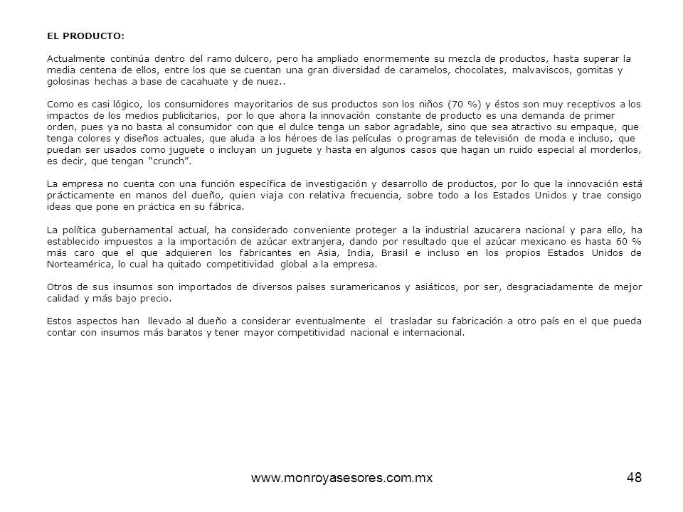 www.monroyasesores.com.mx EL PRODUCTO: