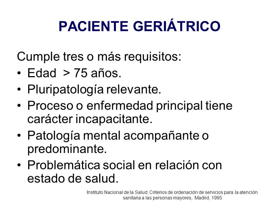 sanitaria a las personas mayores, Madrid, 1995