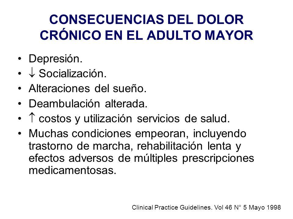 CONSECUENCIAS DEL DOLOR CRÓNICO EN EL ADULTO MAYOR