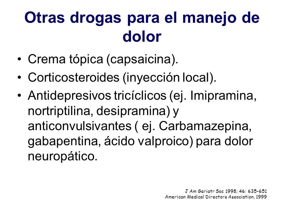 Otras drogas para el manejo de dolor